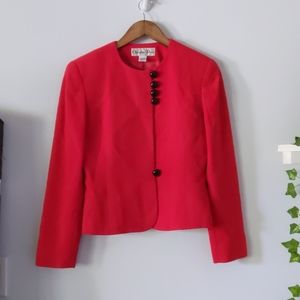 Vintage Christian Dior Pure Wool Red Blazer